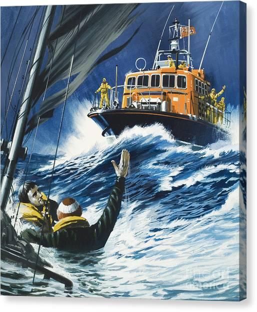 Coast Guard Canvas Print - Life Savers by Wilf Hardy