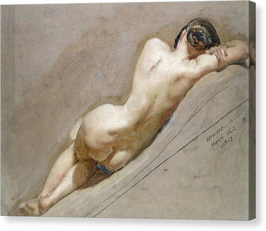 Nudes Canvas Print - Life Study Of The Female Figure by William Edward Frost