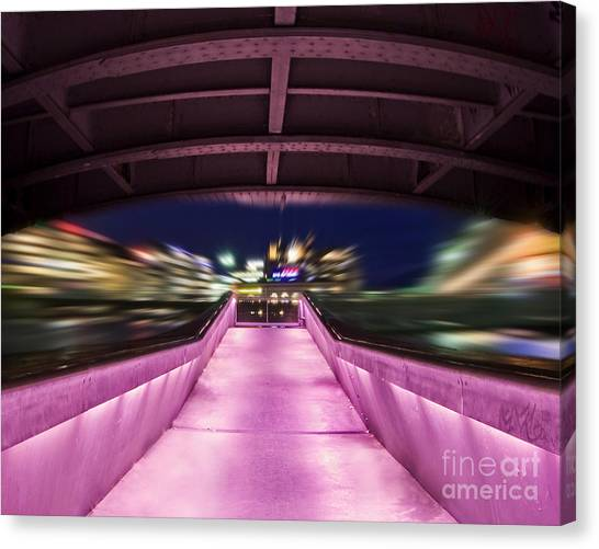 Long Street Canvas Print - Life Under The City In Geneva by Chris Smith