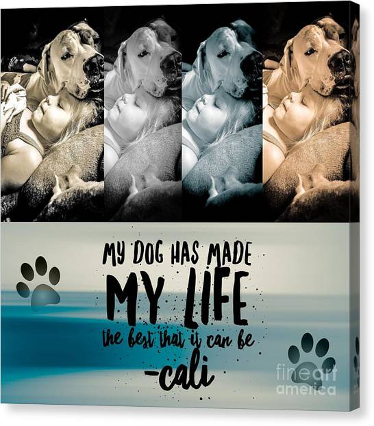 Life With My Dog Canvas Print