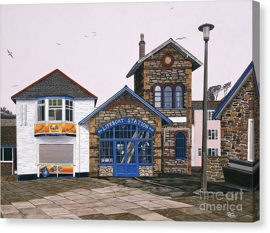 Lifeboat Station Canvas Print by Jiji Lee
