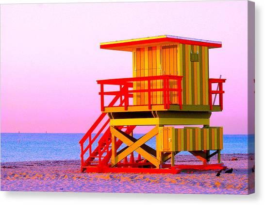 Lifeguard Stand Miami Beach Canvas Print