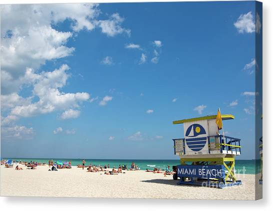 Lifeguard Station Miami Beach Florida Canvas Print