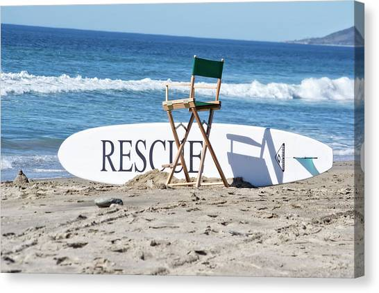 Lifeguard Surfboard Rescue Station  Canvas Print