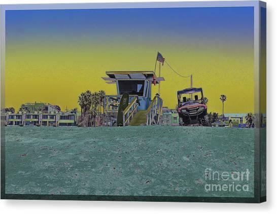 Lifeguard Tower 4 Canvas Print