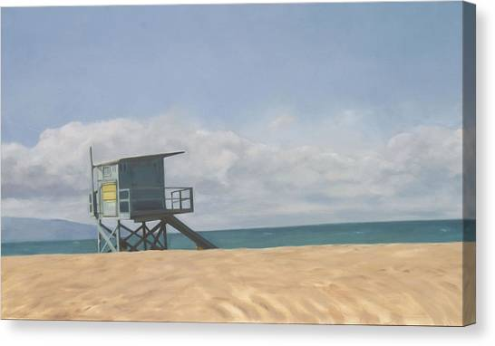 Lifeguard Tower Canvas Print by Merle Keller