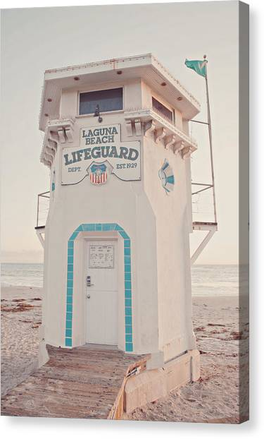 Lifeguard Canvas Print - Laguna Beach by Nastasia Cook