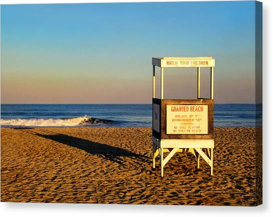 Lifeguard Stand At Ocean City Nj Canvas Print