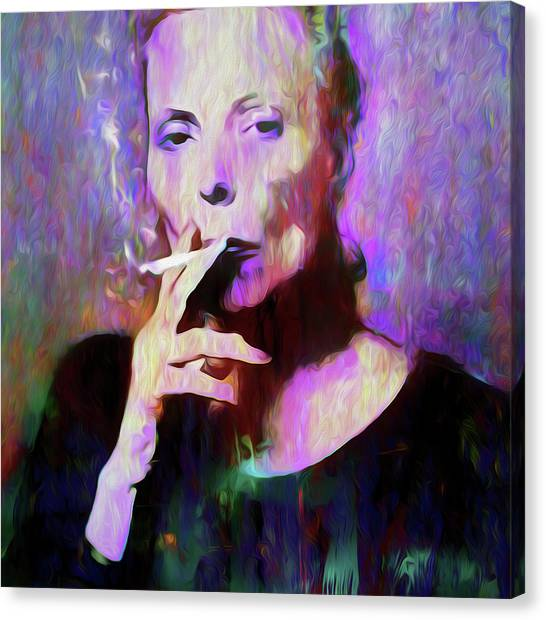 Joni Mitchell Canvas Print - Life's Illusions by Mal Bray