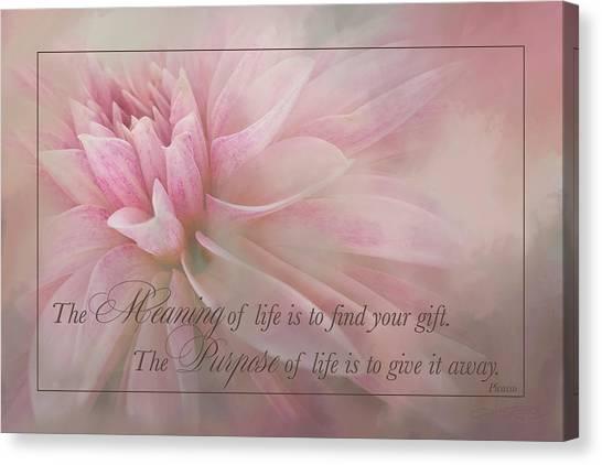 Lifes Purpose Canvas Print
