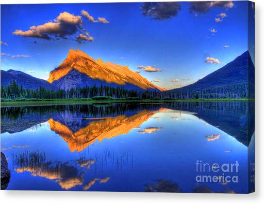 Mountain Sunrises Canvas Print - Life's Reflections by Scott Mahon