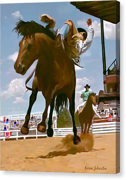 Life's Ride Canvas Print by Karen Johnston
