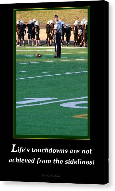 Life's Touchdowns Canvas Print