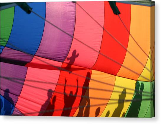 Hot Air Balloons Canvas Print - Liftoff by Heather Classen