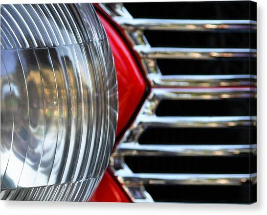Cars Canvas Print - Light And Grill by Dan Holm