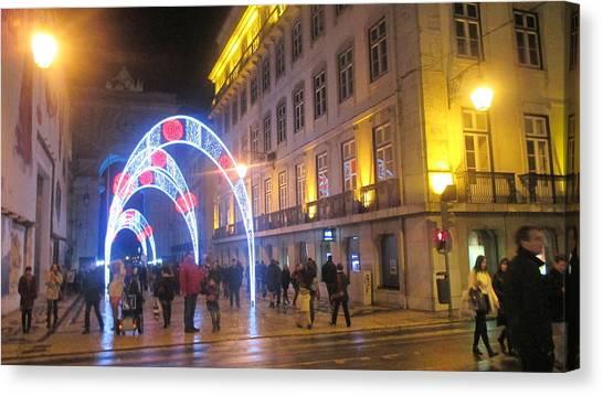 Magician Canvas Print - Light Arcs In Lisbon by Anamarija Marinovic