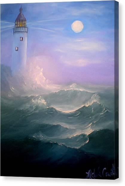 Light At Sea Canvas Print