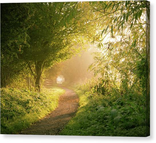 Nottinghamshire Canvas Print - Light At The End Of The Tunnel by Chris Dale