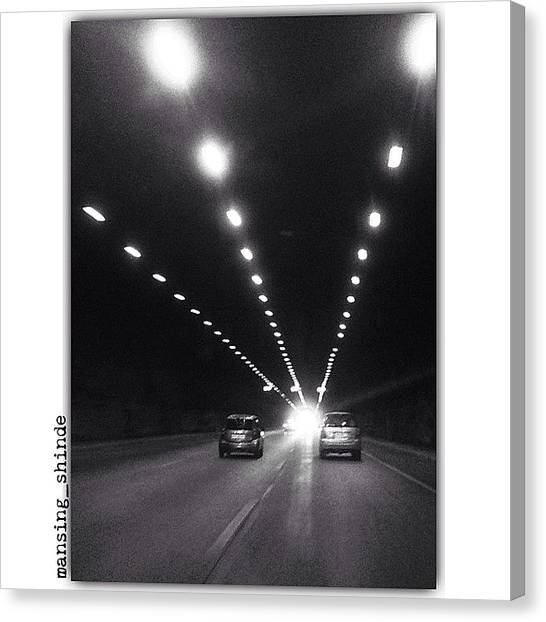 Trucks Canvas Print - Light At The End Of The Tunnel by Indian Truck Driver