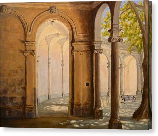 Light At The End Of The Tunnel Monmouth University Canvas Print by Joe Bergholm