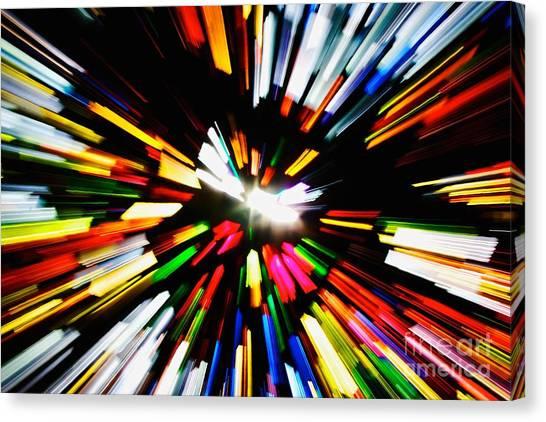 Light Beams Canvas Print by Hideaki Sakurai
