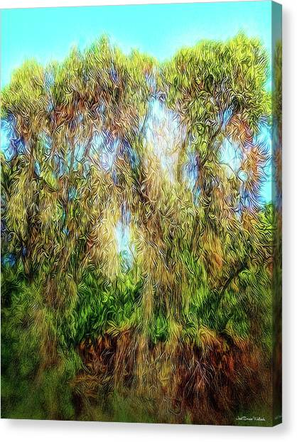 Light Beyond The Woods Canvas Print by Joel Bruce Wallach
