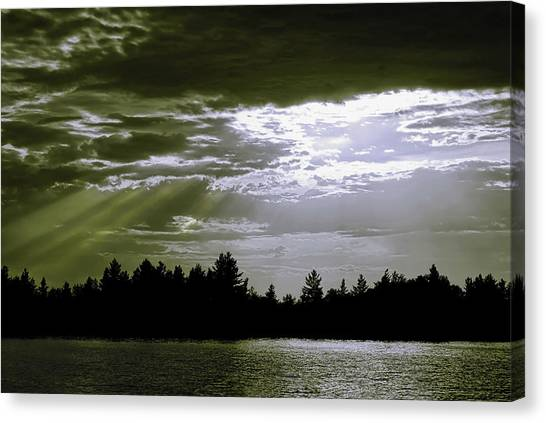 Light Blast In Evening Canvas Print