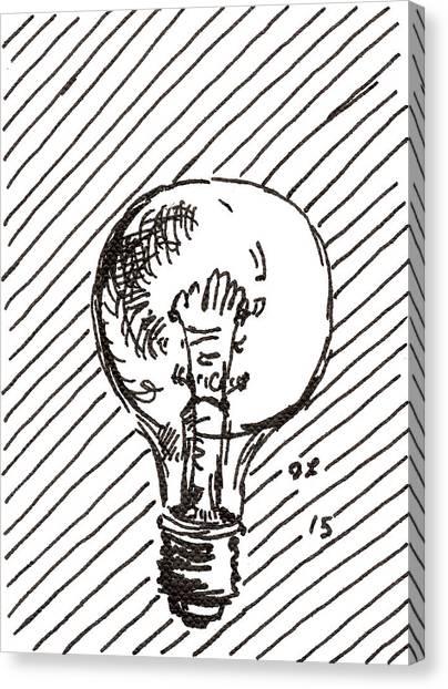 Light Bulb 1 2015 - Aceo Canvas Print