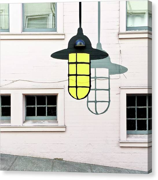 Canvas Print - Light Bulb Mural by Julie Gebhardt