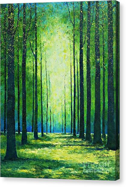 Light From Green Canvas Print