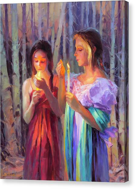 Ashes Canvas Print - Light In The Forest by Steve Henderson