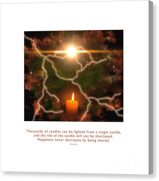 Canvas Print featuring the photograph Light Of A Single Candle by Kristen Fox