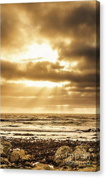 Beach Sunsets Canvas Print - Light Of Dusk by Jorgo Photography - Wall Art Gallery