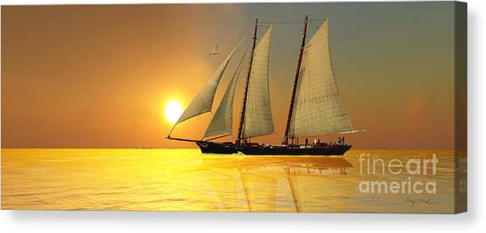 Jibbing Canvas Print - Light Of Life by Corey Ford