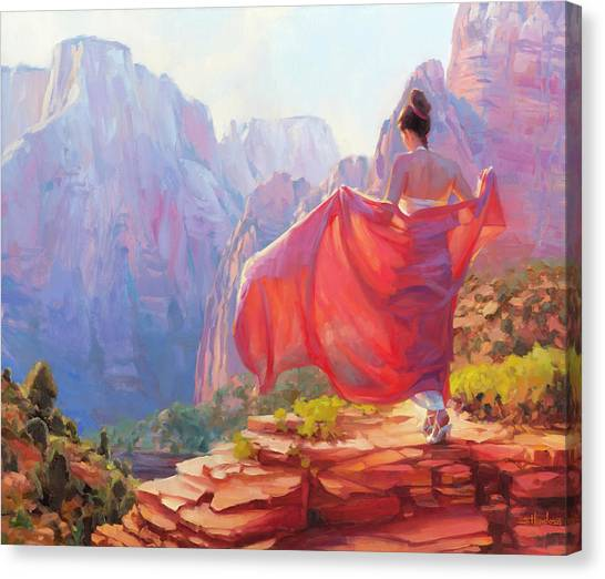 Canyon Canvas Print - Light Of Zion by Steve Henderson