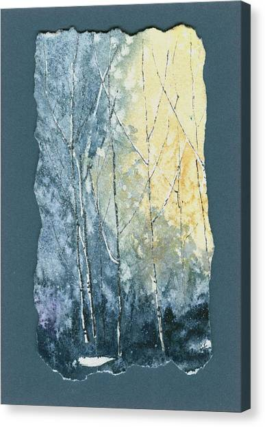 Light On Bare Trees 1 Canvas Print