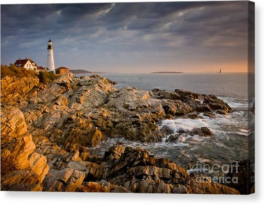 Light On Portland Head Canvas Print