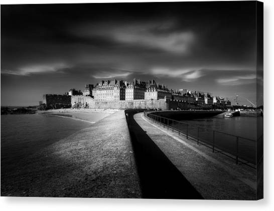 Saints Canvas Print - Light On Saint-malo by Puget Kevin
