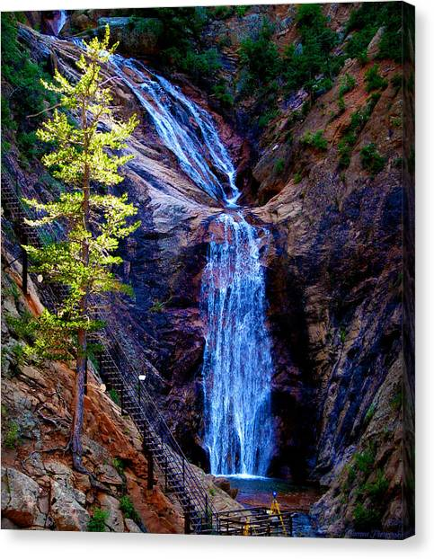 Light On Seven Falls Canvas Print