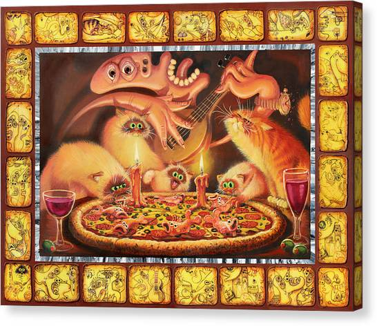 Himalayan Cats Canvas Print - Light On The Anchovies by Baron Dixon