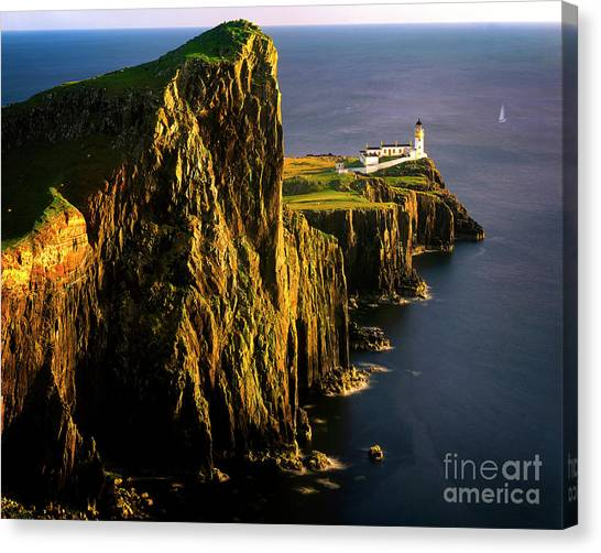 Light On The Rock Canvas Print