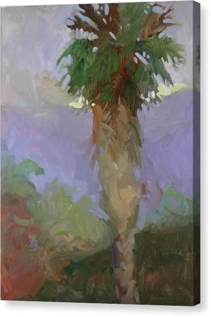 Light On Yonder Hill  Canvas Print