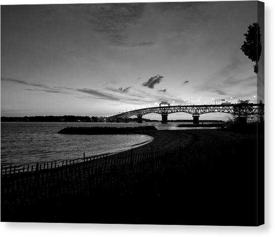 Light Over Bridge Canvas Print