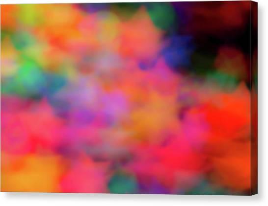 Lucky Neon Stars Canvas Print