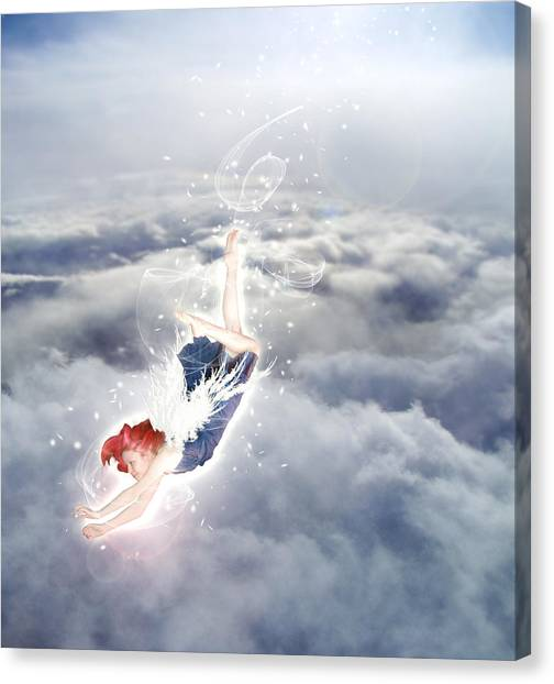 Angel Falls Canvas Print - Light Play Angels Descent by Nikki Marie Smith