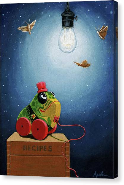 Light Snacks Original Whimsical Still Life Canvas Print