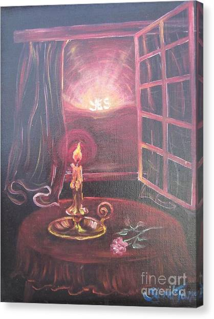 Flying Lamb Productions      Light The Yes Candle Canvas Print