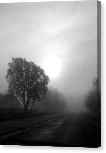 Light Through A Fog Canvas Print