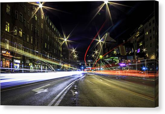 Neon Canvas Print - Light Trails 2 by Nicklas Gustafsson