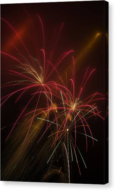 Pyrotechnics Canvas Print - Light Up The Night by Garry Gay